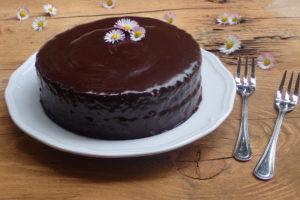 bezlepková Sacherova torta