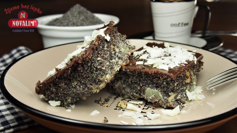 bezlepkový makový koláč s hruškami